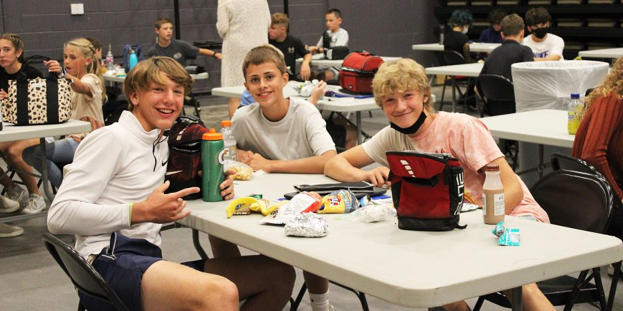 3-Duanesburg-high-school-boys-in-the-makewhift-cafeteria-in-Joe-Bena-Hall-on-2021-first-day-of-school.jpg September 8, 2021
