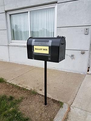 Ballot dropbox outside DCS Central Office
