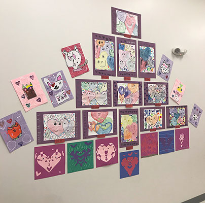 2nd grade hearts art