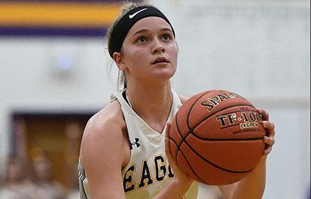 Madison Meyer shooting basketball