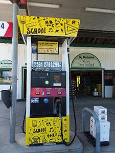 Rick's Feed & Fuel gas pump
