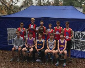 boys team poses with award